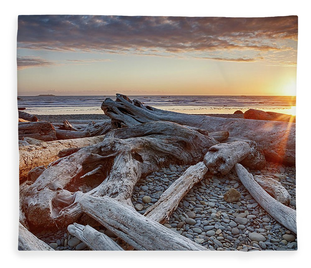 Scenics Fleece Blanket featuring the photograph Usa, Washington State, Olympic National by Bryan Mullennix