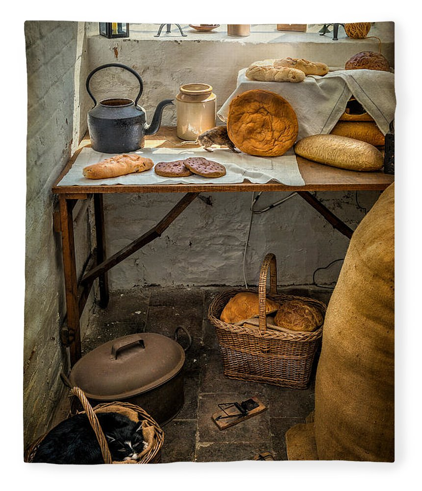 British Fleece Blanket featuring the photograph Victorian Bakers by Adrian Evans