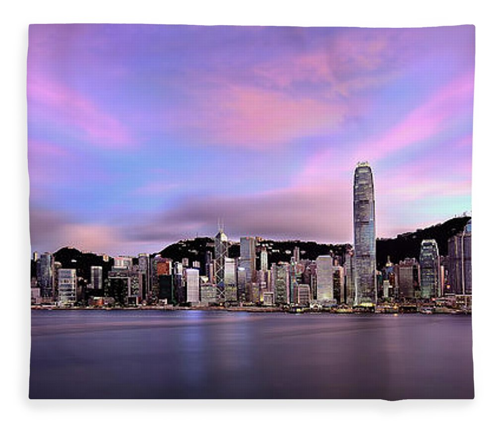 Tranquility Fleece Blanket featuring the photograph Victoric Harbour, Hong Kong, 2013 by Joe Chen Photography
