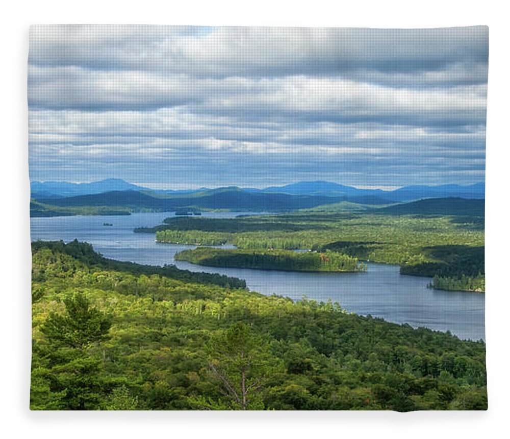 Tranquility Fleece Blanket featuring the photograph View From Bald Mountain by Barbara Friedman