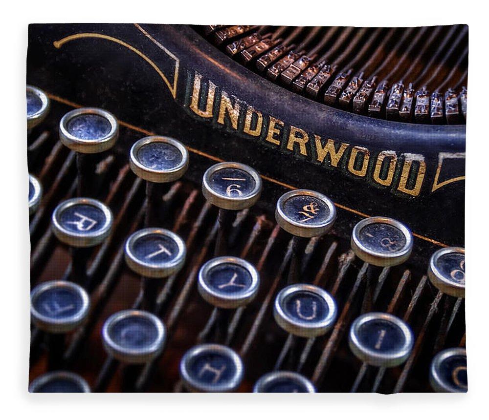 Retro Fleece Blanket featuring the photograph Vintage Typewriter 2 by Scott Norris