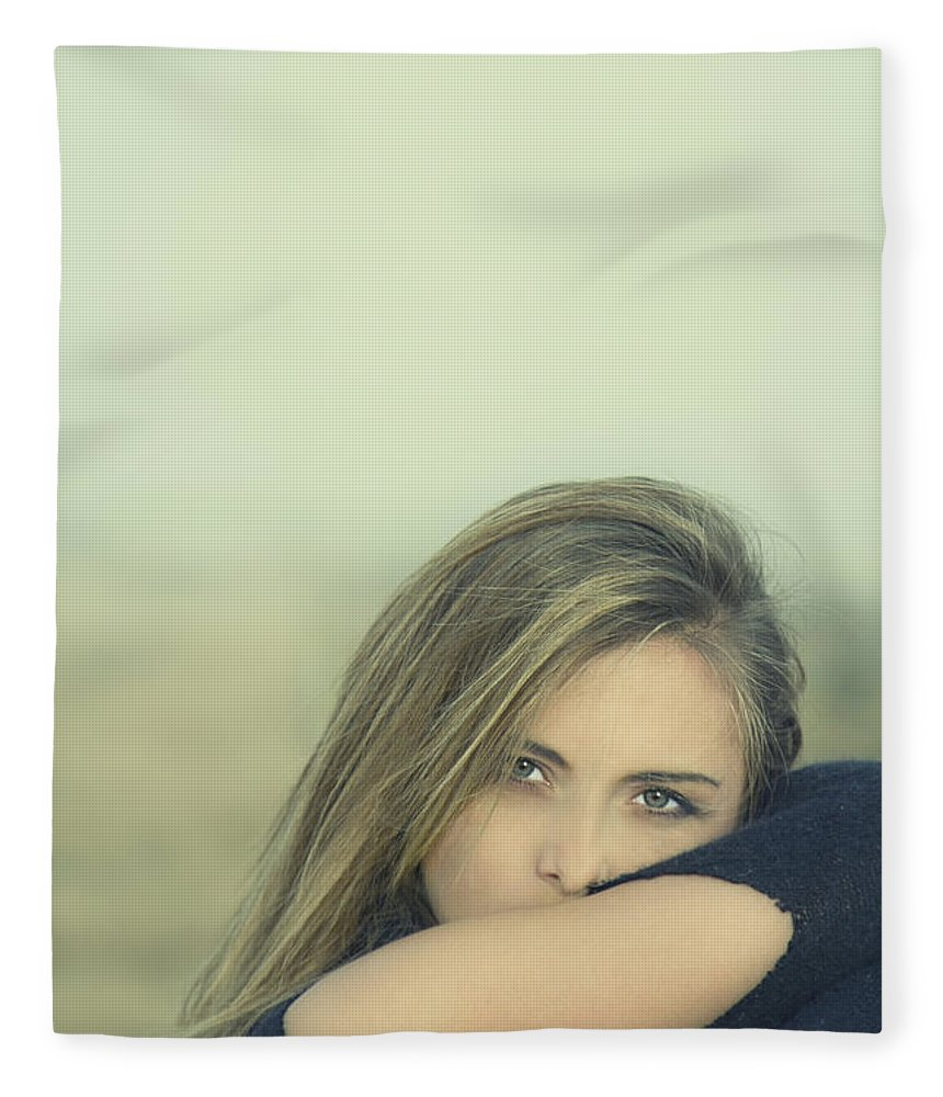 Alone Fleece Blanket featuring the photograph Voice Of My Silence by Evelina Kremsdorf