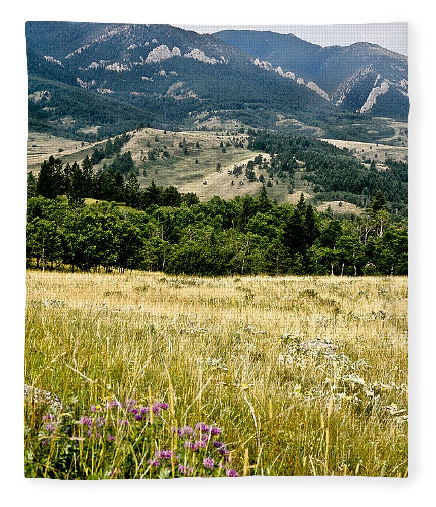 Wilderness Fleece Blanket featuring the photograph Washake Wilderness by Kathy McClure