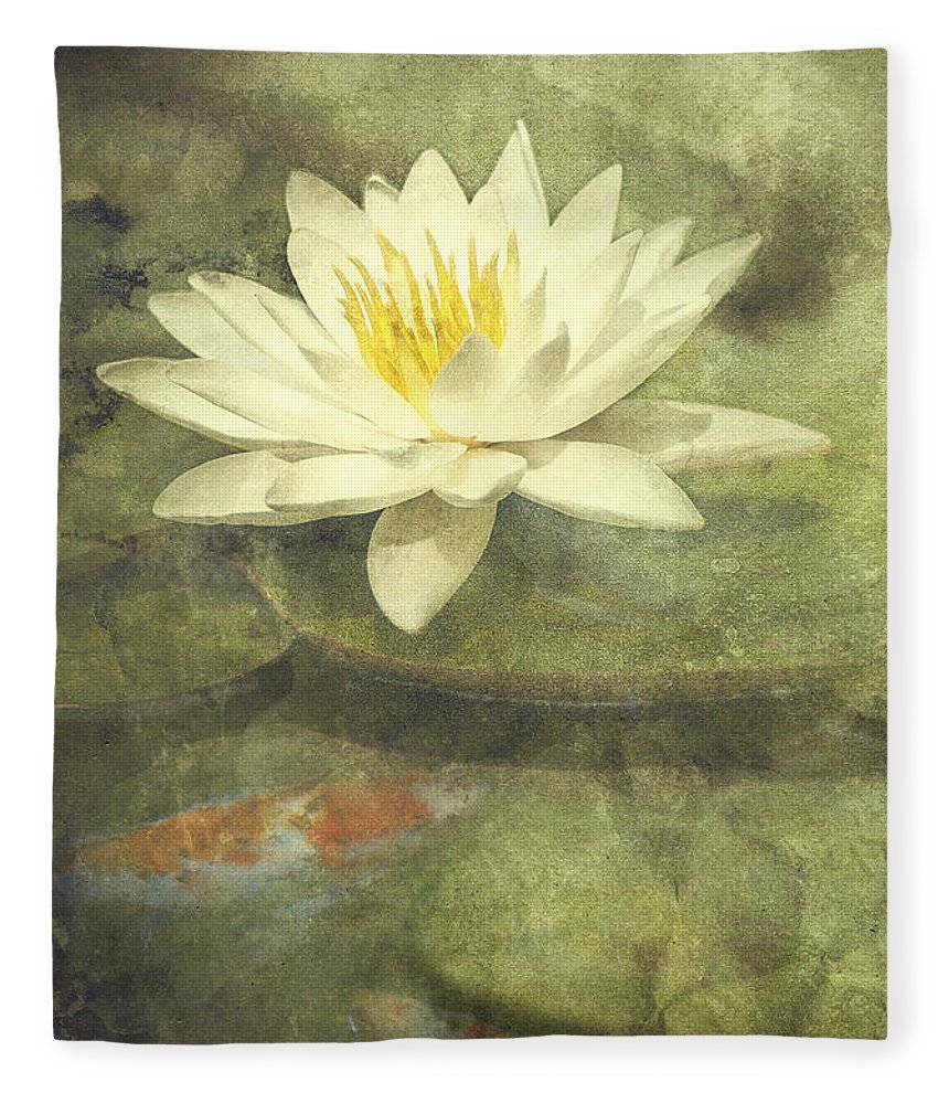 Water Lily Fleece Blanket featuring the photograph Water Lily by Scott Norris