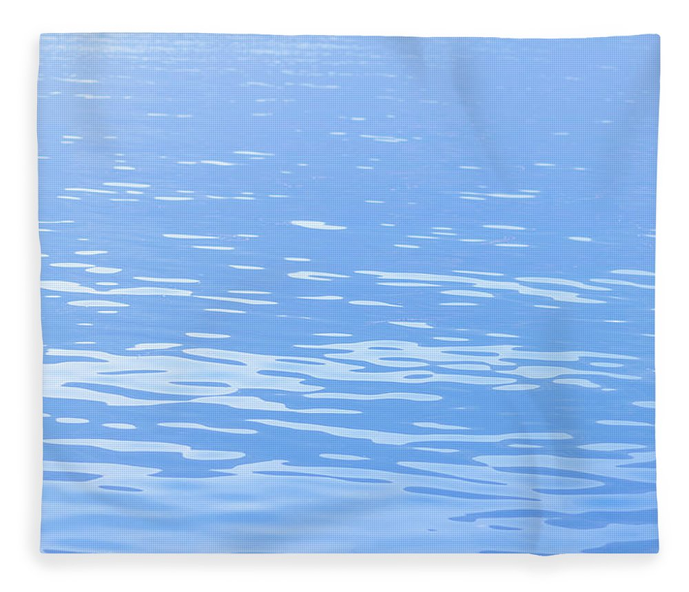 Standing Water Fleece Blanket featuring the photograph Water Surface Background by Mmac72