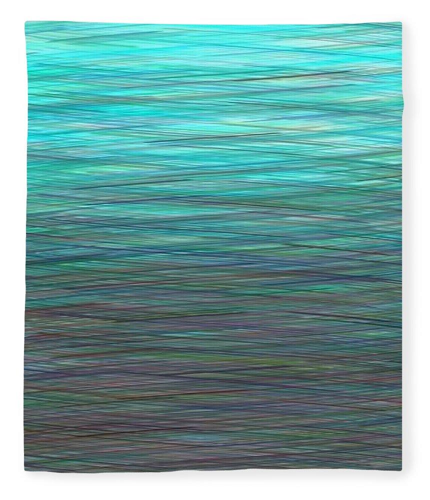 Watery Deep Fleece Blanket featuring the digital art Watery Deep by Will Borden