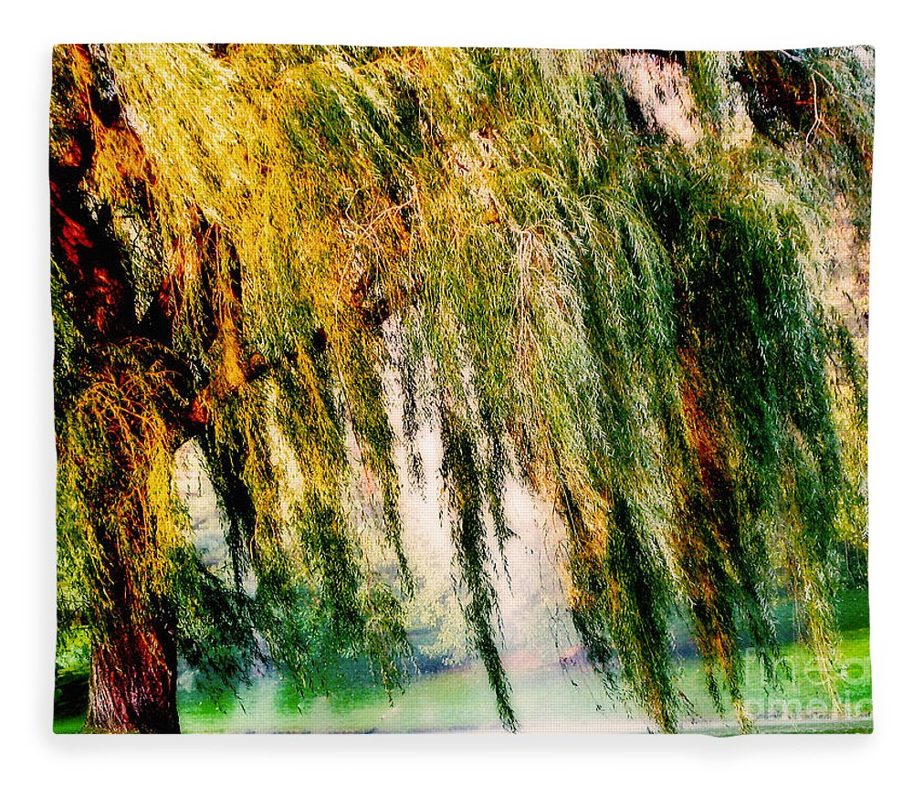 Weeping Willow Tree Painterly Monet Impressionist Dreams Fleece ...