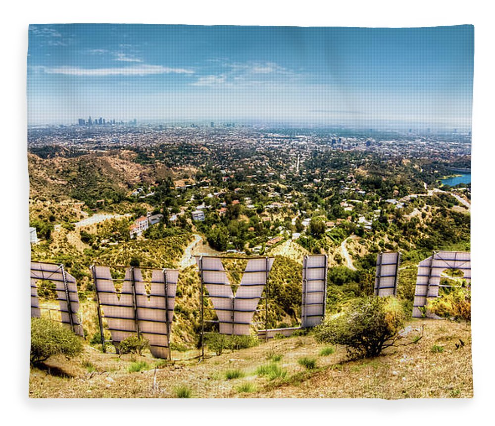 Actress Fleece Blanket featuring the photograph Welcome To Hollywood by Natasha Bishop