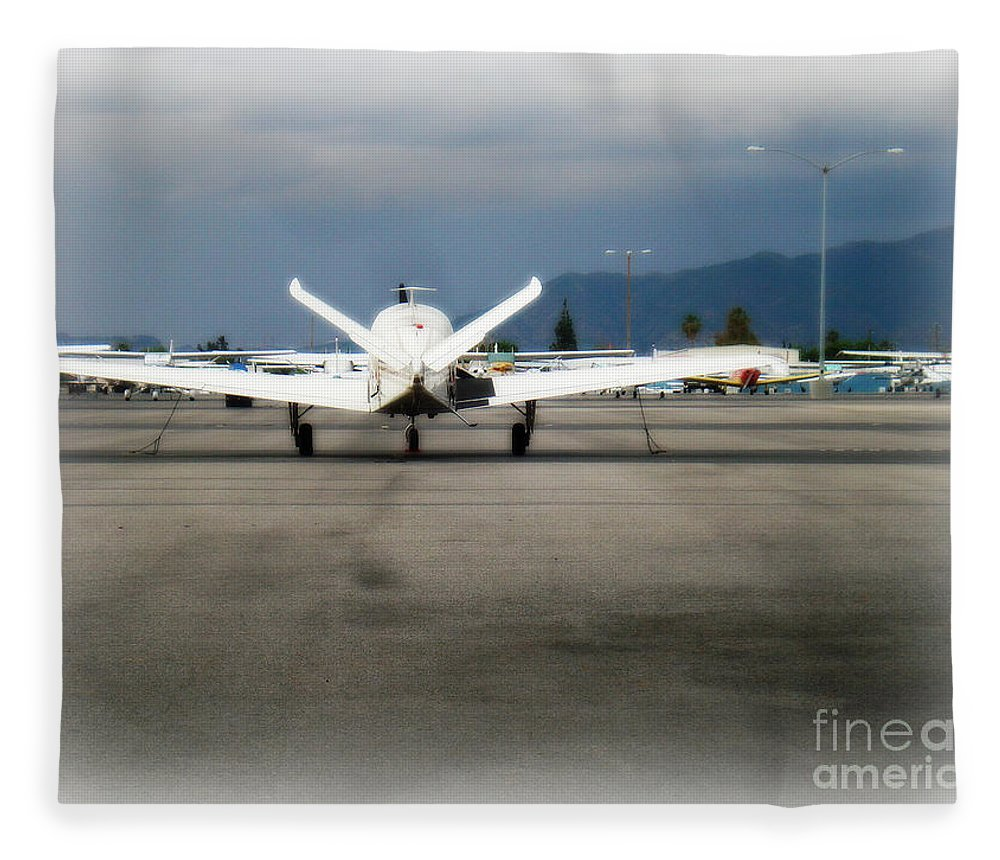 Aviation Fleece Blanket featuring the photograph What fly girl is dreaming about by De La Rosa Concert Photography