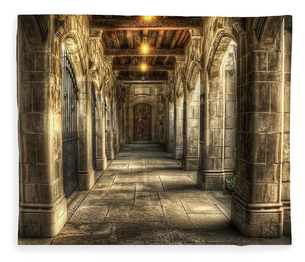 Church Fleece Blanket featuring the photograph What Lies Beyond by Scott Norris