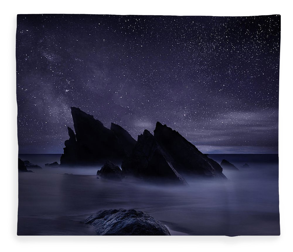 Night Fleece Blanket featuring the photograph Whispers of eternity by Jorge Maia