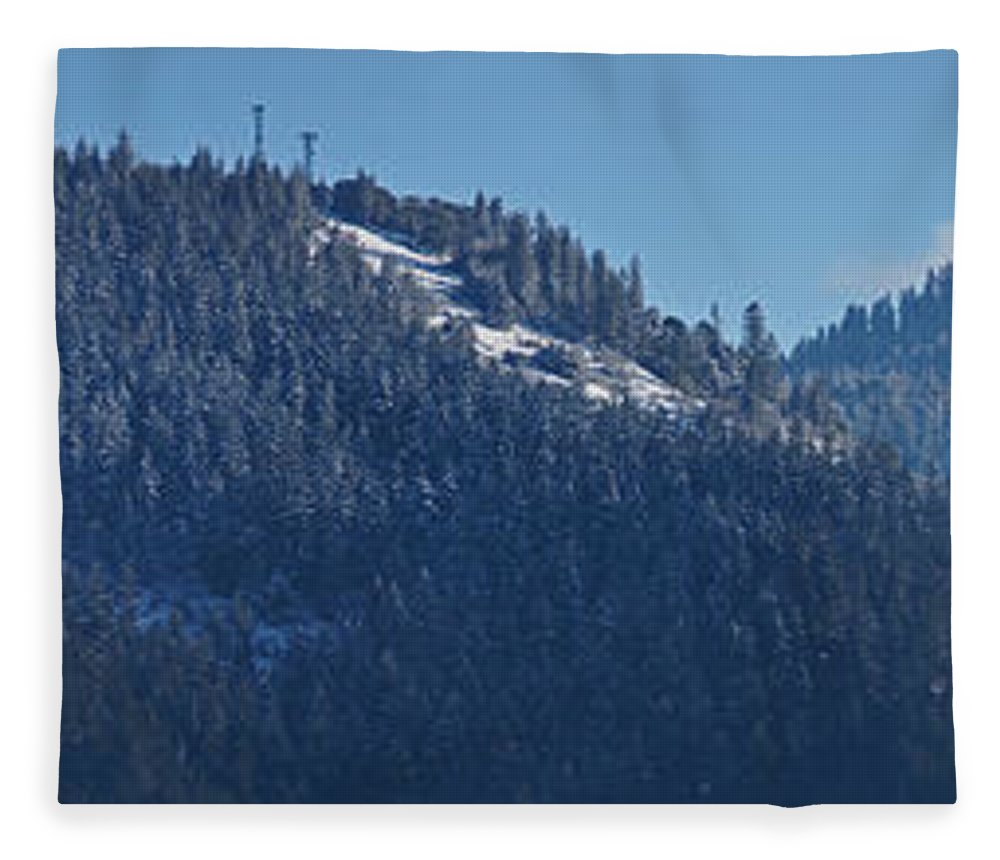 Panorama Fleece Blanket featuring the photograph Winter And Mt Baldy Panorama by Mick Anderson