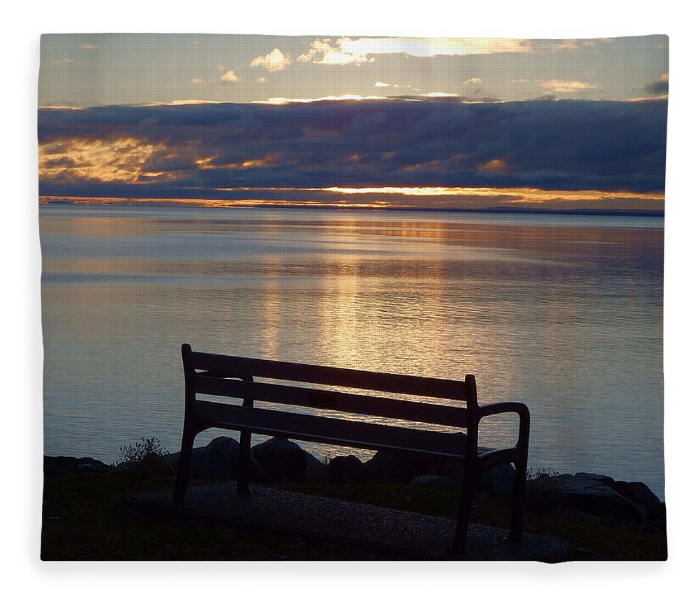 Lake Superior Fleece Blanket featuring the photograph Wish You Were Here by Alison Gimpel