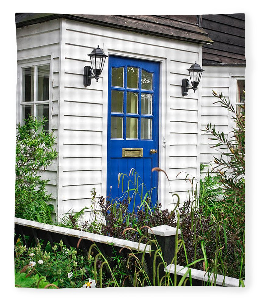 Address Fleece Blanket featuring the photograph Wooden House by Tom Gowanlock