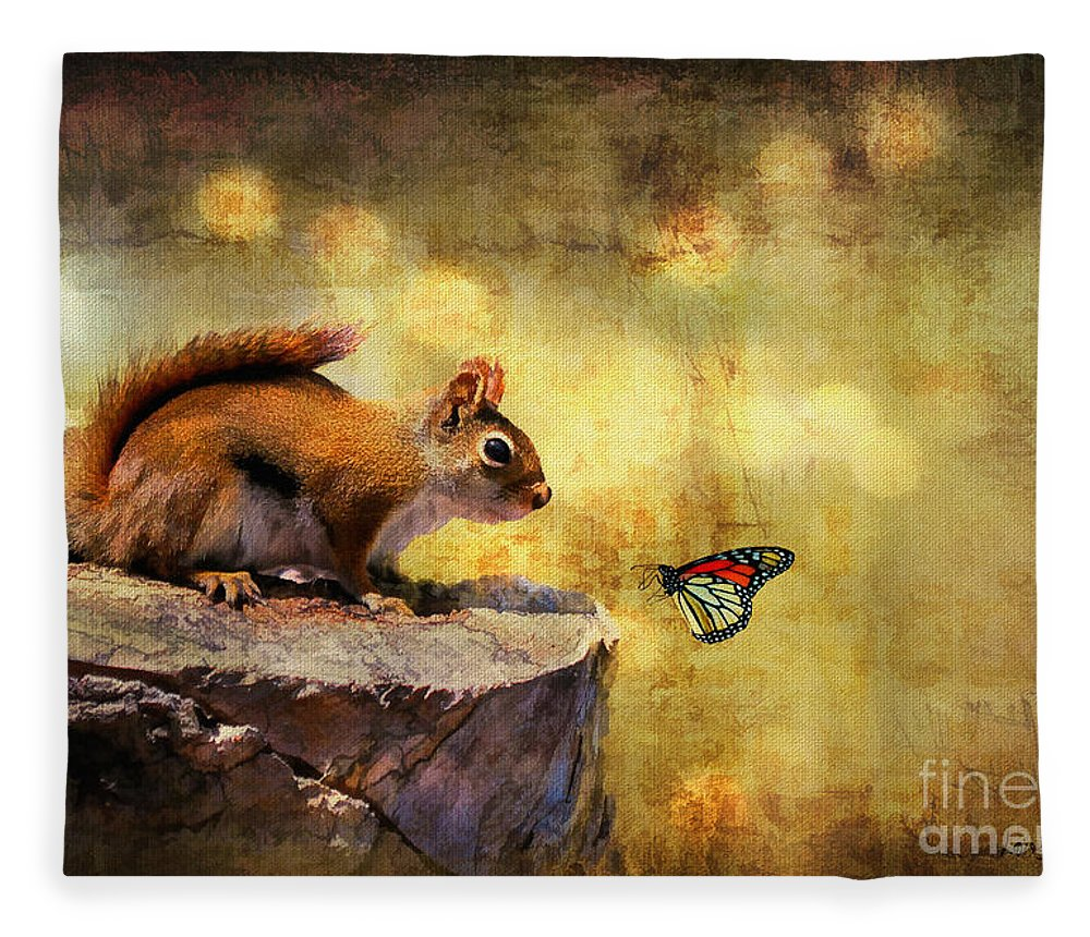 Wildlife Fleece Blanket featuring the photograph Woodland Wonder by Lois Bryan
