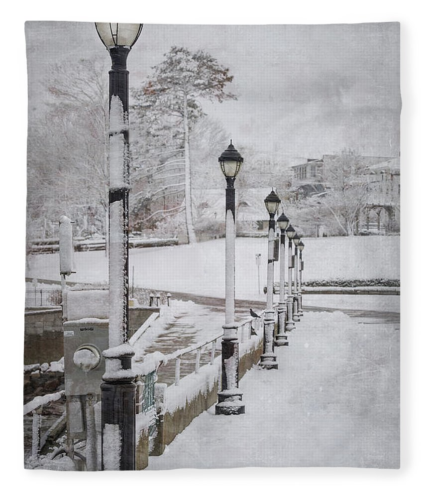 Bar Harbor Fleece Blanket featuring the photograph You'll Never Walk Alone by Evelina Kremsdorf