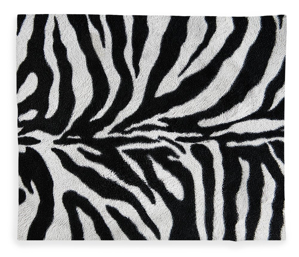 Animal Skin Fleece Blanket featuring the photograph Zebra Textile Background by Narvikk