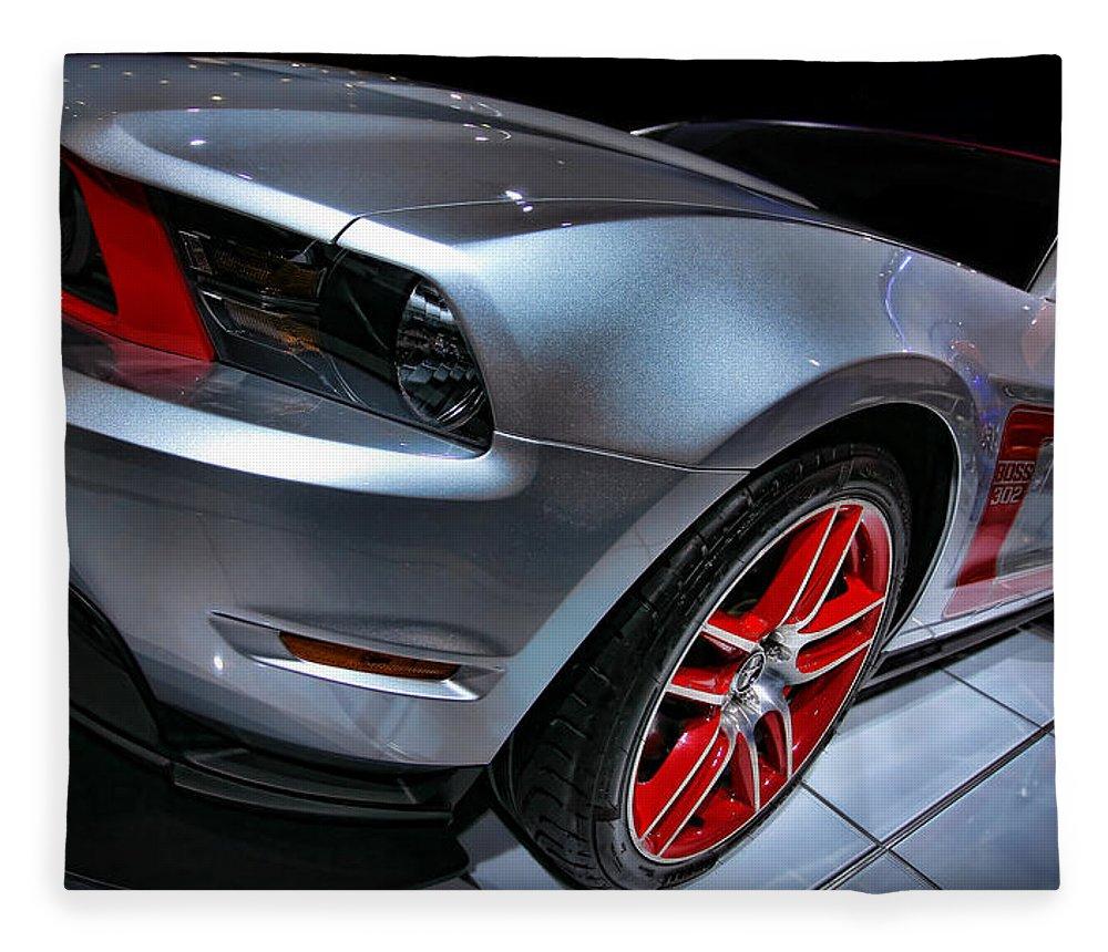 2011 Fleece Blanket featuring the photograph Ford Mustang - Boss 302 by Gordon Dean II