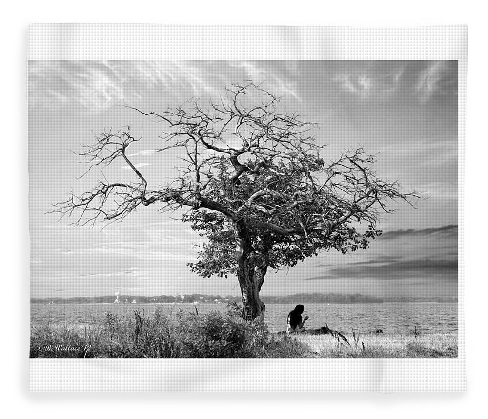 2d Fleece Blanket featuring the photograph Introspective by Brian Wallace