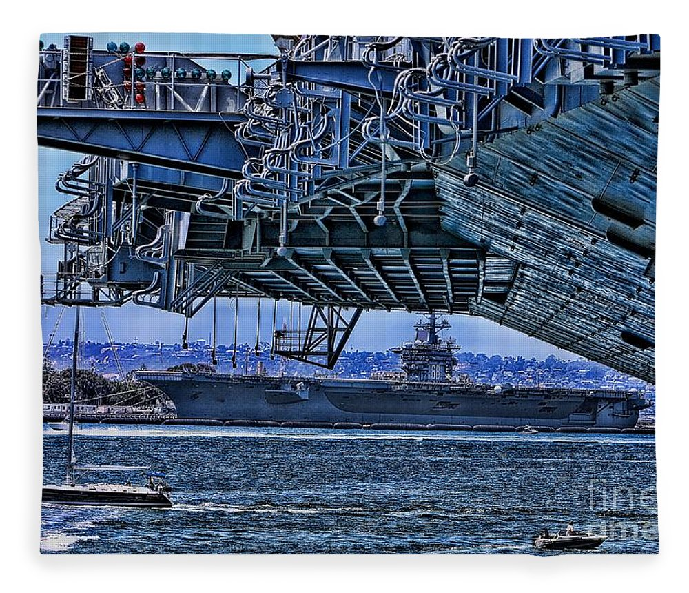 Aircraft Carriers Fleece Blanket featuring the photograph The Carriers by Tommy Anderson