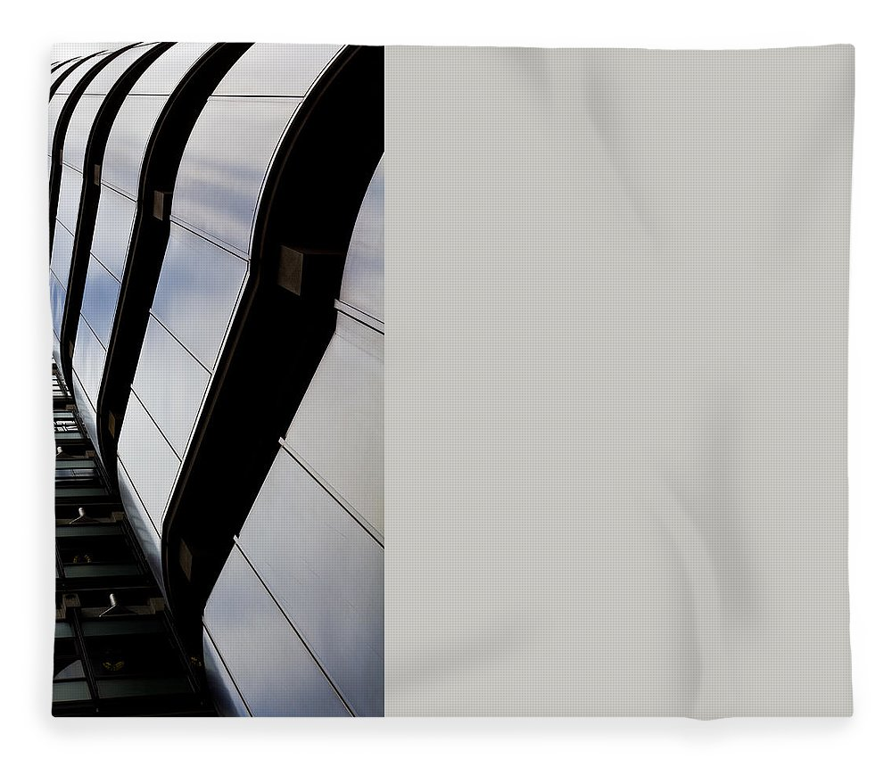Lloyds Fleece Blanket featuring the photograph Lloyds Building London by David Pyatt