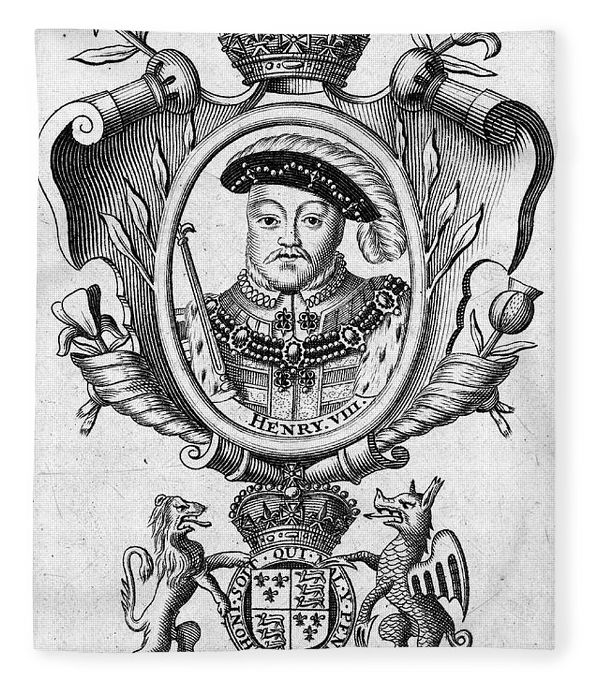16th Century Fleece Blanket featuring the photograph Henry Viii (1491-1547) by Granger