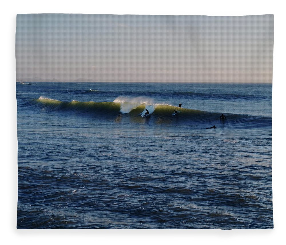 Ocean Fleece Blanket featuring the photograph Surfers Make The Ocean Better Series by Teri Schuster