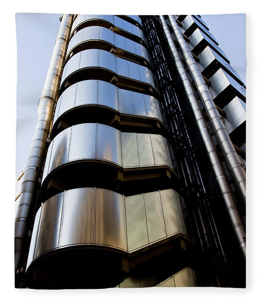 London. England Fleece Blanket featuring the photograph Lloyds Building Central London by David Pyatt