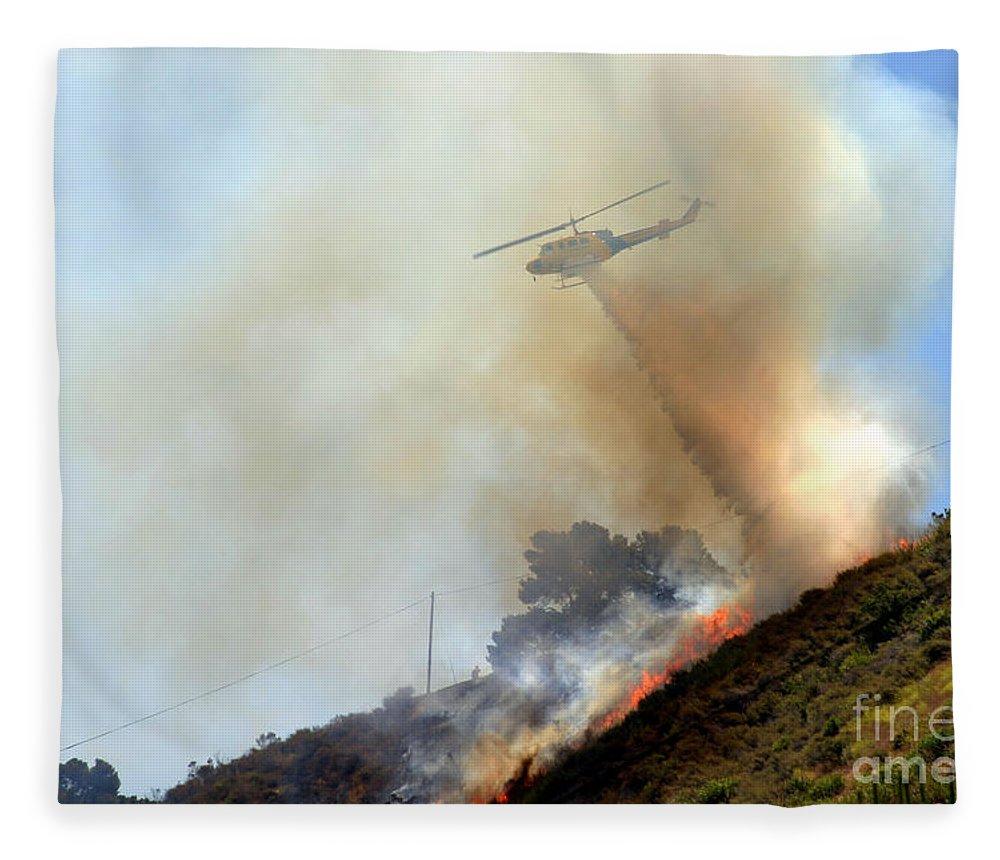 Ash Fleece Blanket featuring the photograph Barnett Fire by Henrik Lehnerer
