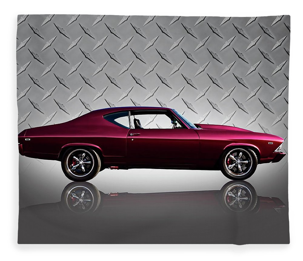 Classic Fleece Blanket featuring the digital art '69 Chevelle by Douglas Pittman