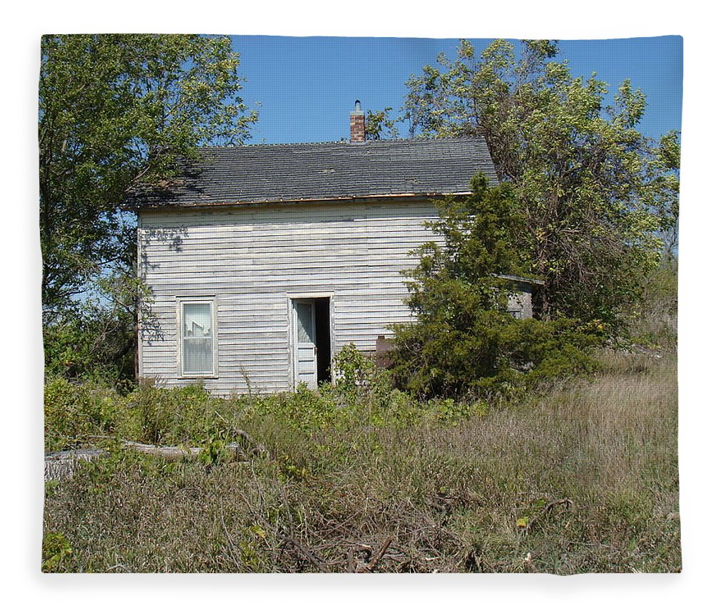Abandoned Fleece Blanket featuring the photograph Abandoned by Bonfire Photography