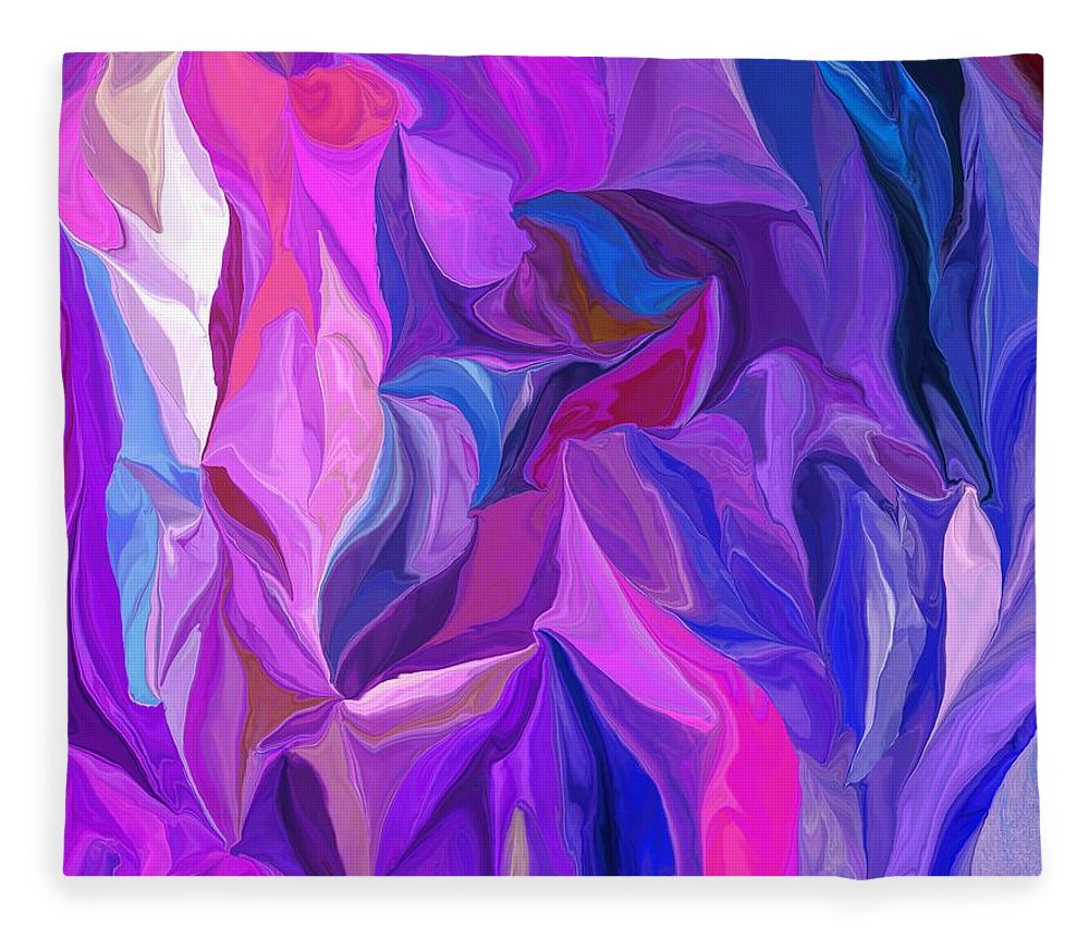 Fine Art Fleece Blanket featuring the digital art Abstract 022512 A by David Lane
