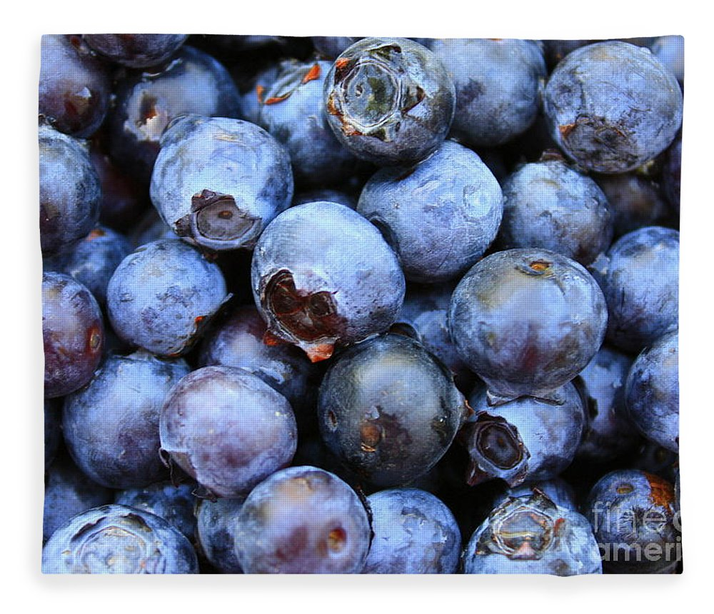 Food Fleece Blanket featuring the photograph Blueberries by Carol Groenen