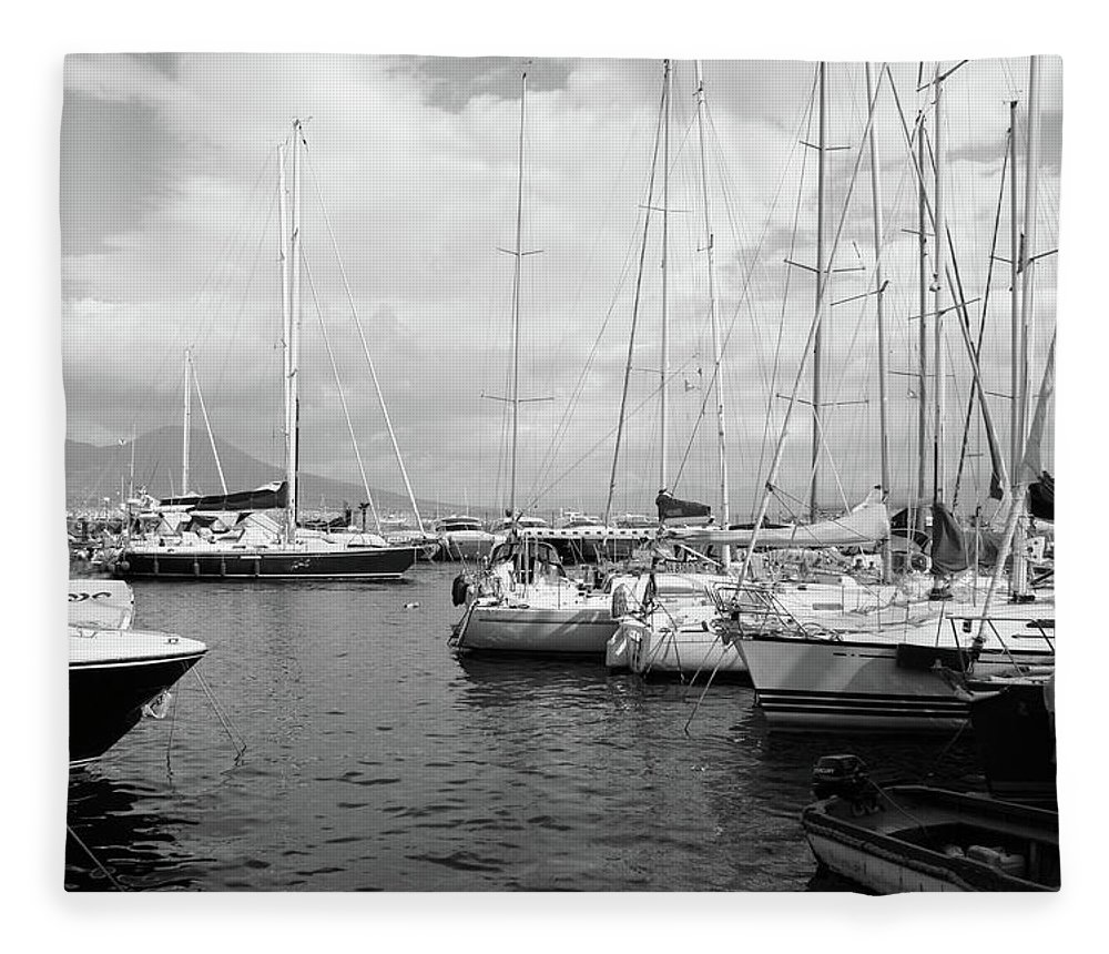 Boats Fleece Blanket featuring the photograph Boats Meeting by La Dolce Vita