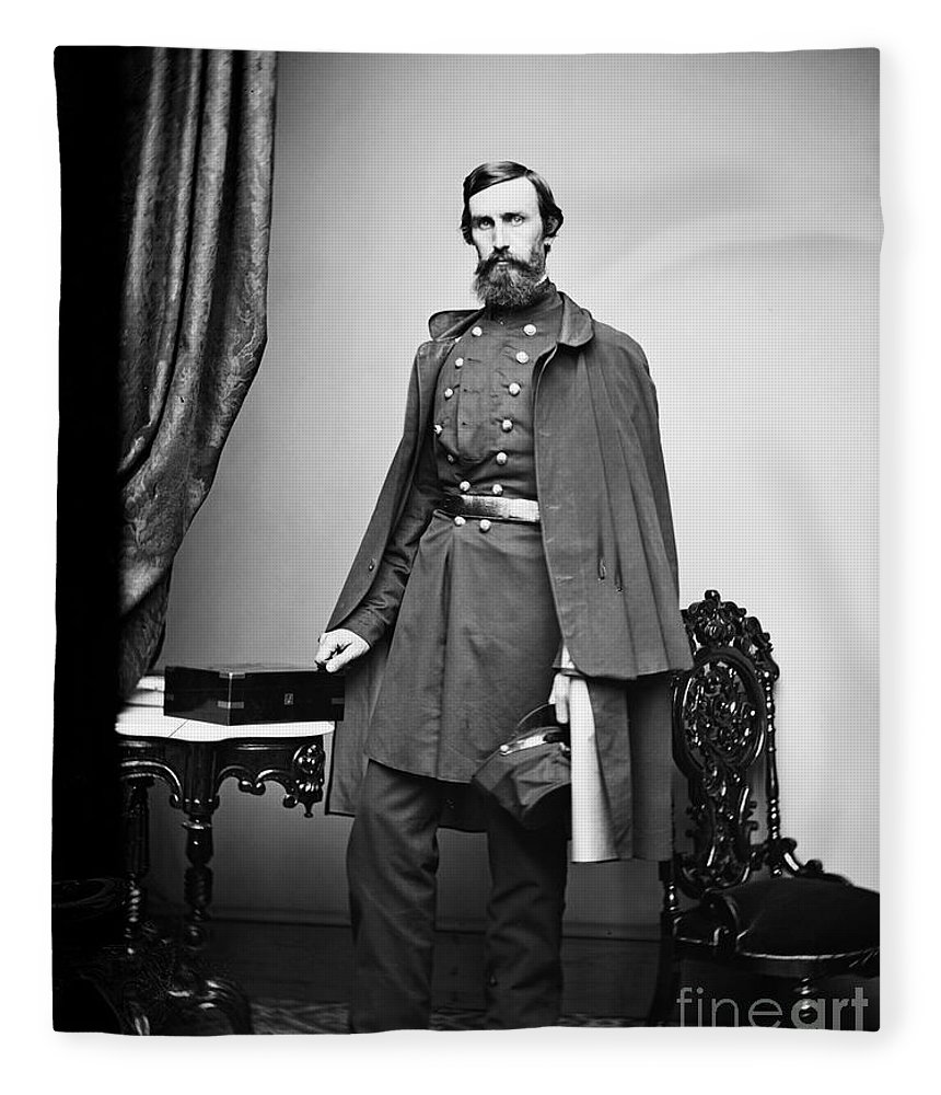 1863 Fleece Blanket featuring the photograph Civil War: Paymaster by Granger