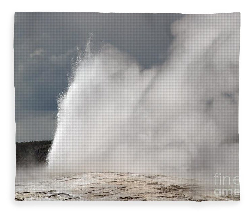 Old Faithful Fleece Blanket featuring the photograph Close Up Of Old Faithful by Living Color Photography Lorraine Lynch