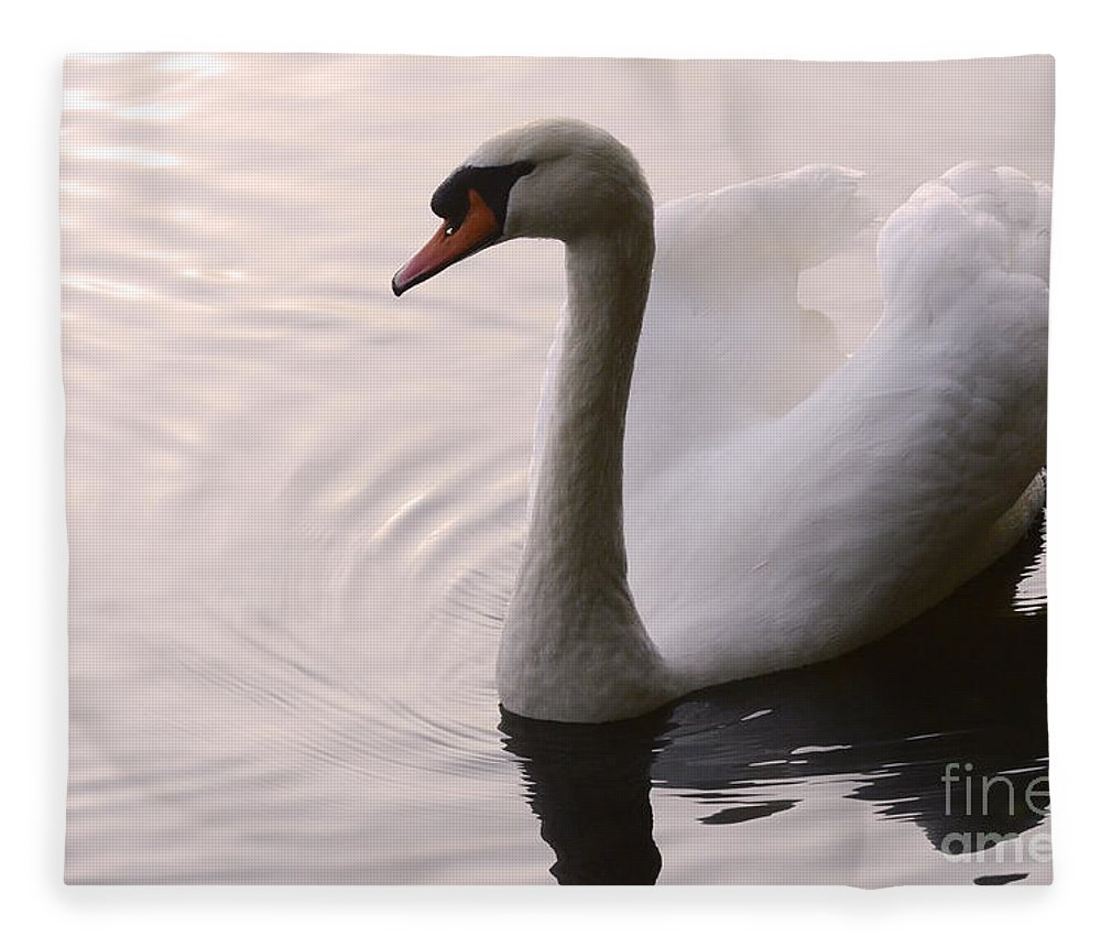 Swan Fleece Blanket featuring the photograph Completely Elegant by Bob Christopher