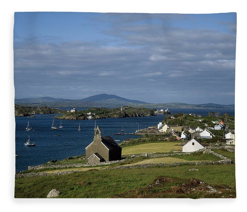 Boat Fleece Blanket featuring the photograph Crookhaven, Co Cork, Ireland by The Irish Image Collection