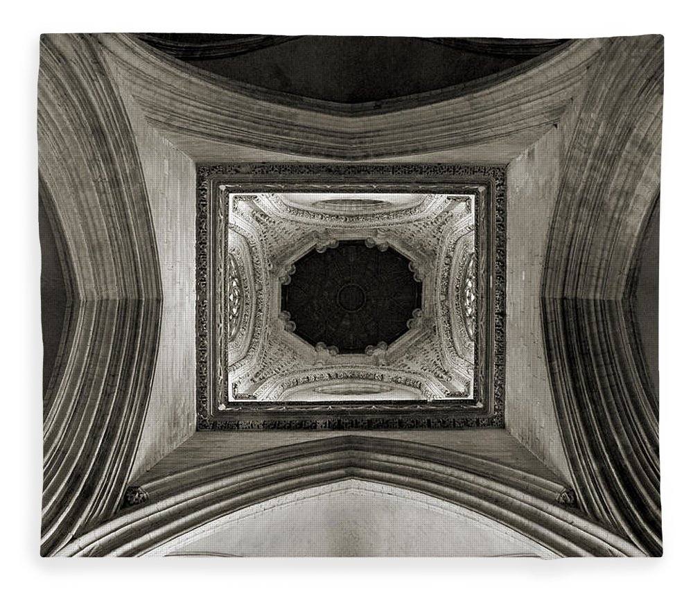 Dome Fleece Blanket featuring the photograph Dome In Saint Jean Church - Caen by RicardMN Photography