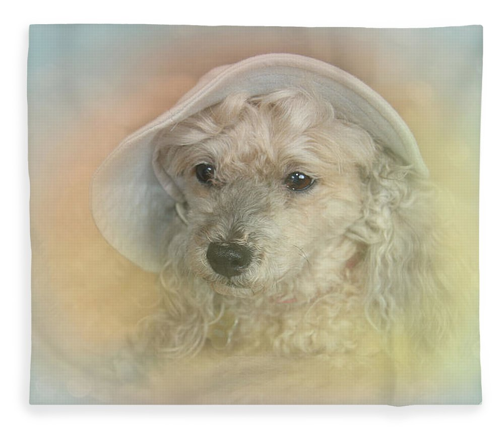 Emily Fleece Blanket featuring the photograph Emily's Bonnet by Diana Haronis