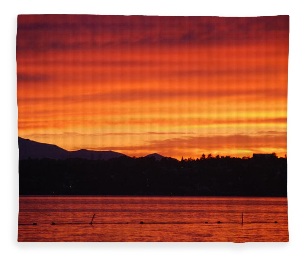 Sky Fleece Blanket featuring the photograph Fire Sky by Michael Merry