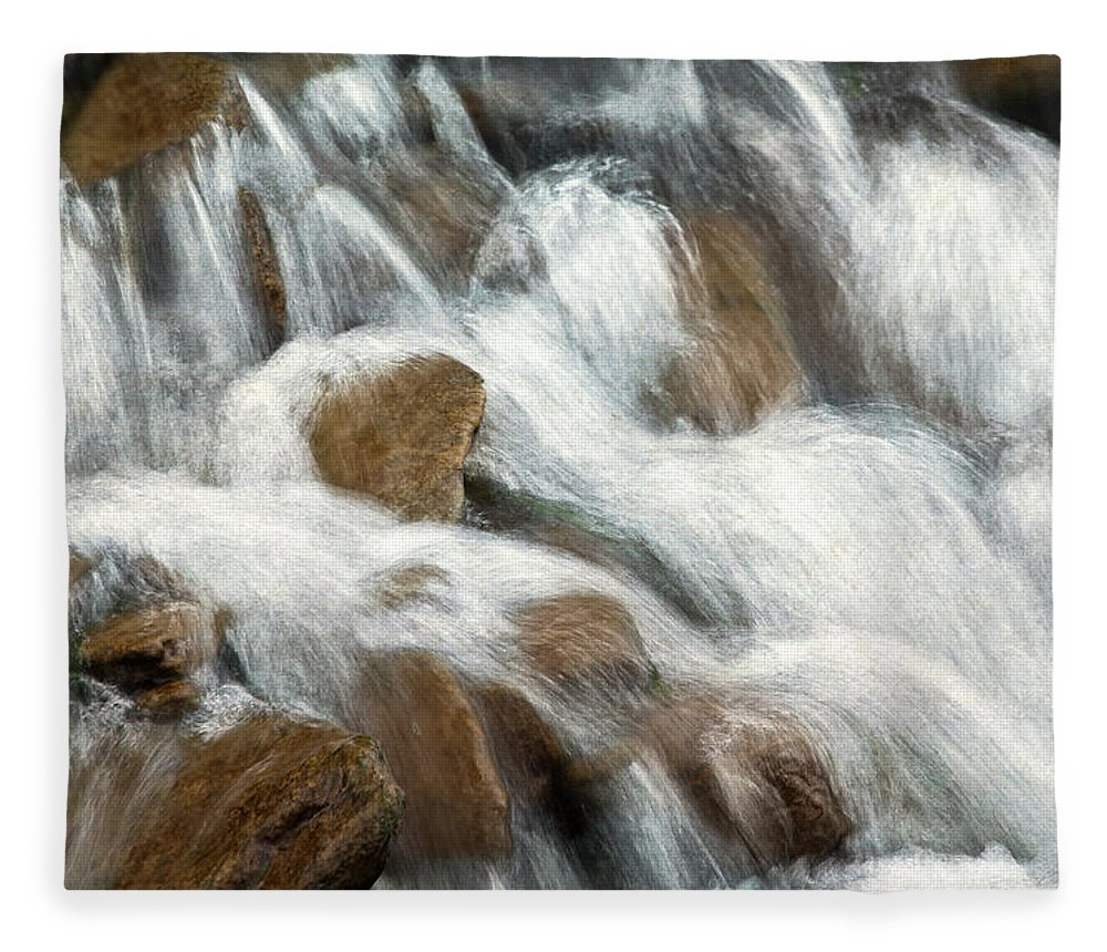 Water Fleece Blanket featuring the photograph Flowing Waters by Dale Kincaid