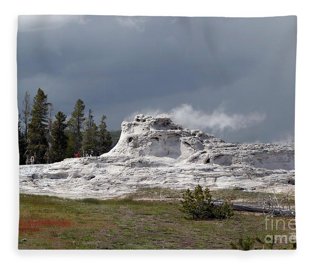 Geyser Fleece Blanket featuring the photograph Geyser In Yellowstone by Living Color Photography Lorraine Lynch