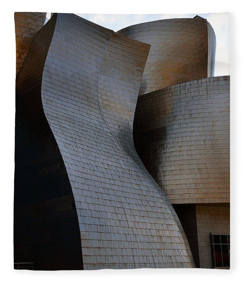 Guggenheim Fleece Blanket featuring the photograph Guggenheim Museum Bilbao - 1 by RicardMN Photography