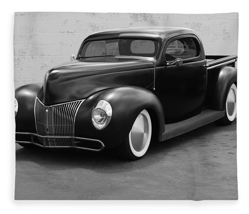 Hot Rod Fleece Blanket featuring the photograph Hot Rod Pick Up by Rob Hans