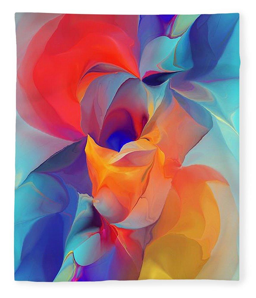 Fine Art Fleece Blanket featuring the digital art I Am So Glad by David Lane