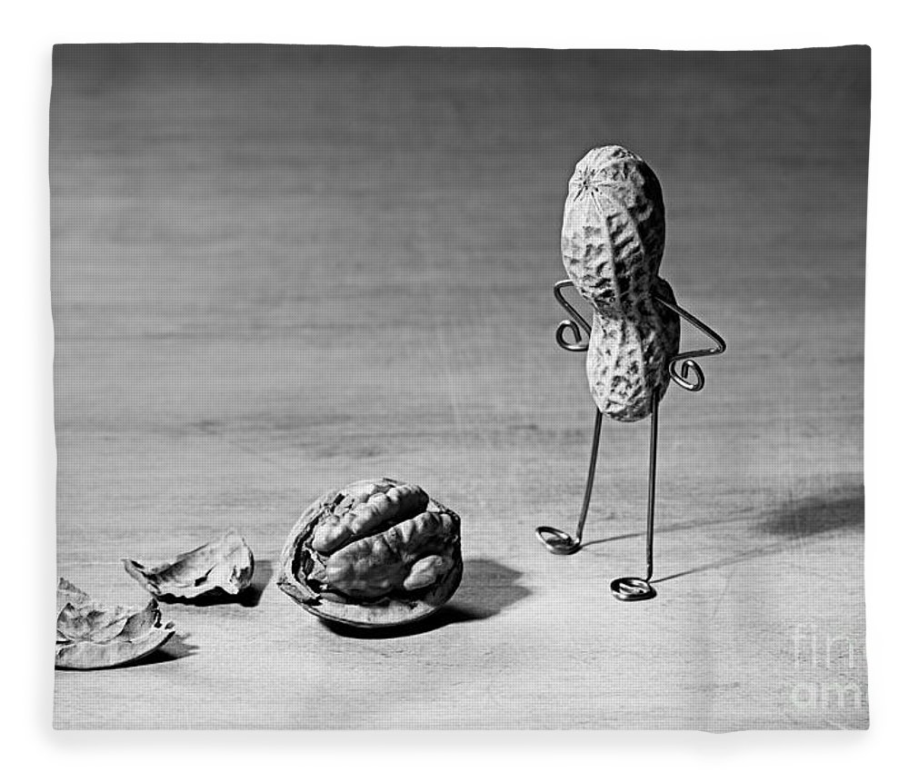 Peanut Fleece Blanket featuring the photograph Lost Brains 02 by Nailia Schwarz