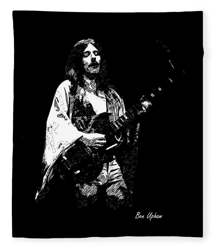 Frank Marino Fleece Blanket featuring the photograph Mahogany Rush 4-14-78 by Ben Upham