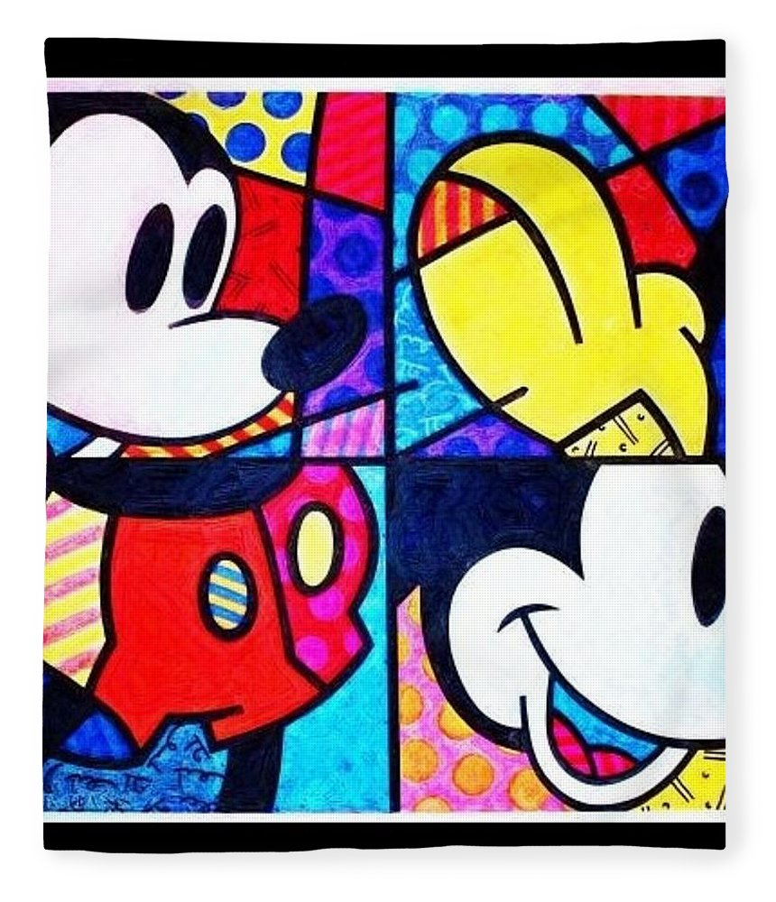 Mickey Mouse Fleece Blanket featuring the photograph Mickey Colors by Rob Hans