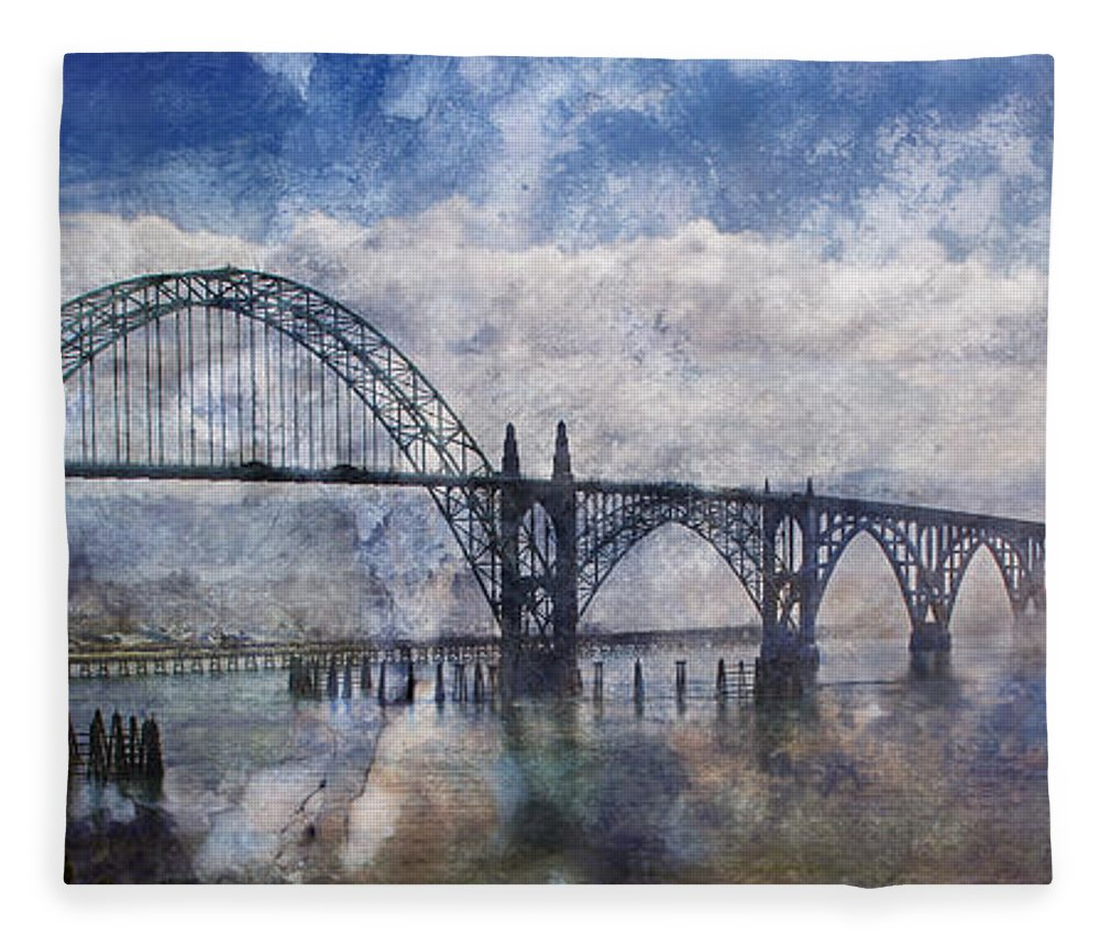 Panorama Fleece Blanket featuring the photograph Newport Fantasy by Mick Anderson